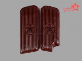 10022 Накладки на рукоятку для пистолета ТТ коричневые (1945 г) Редкие