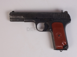 10023 Накладки на рукоятку для пистолета ТТ коричневые (1945 г) Редкие