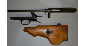 Затворная рама в сборе и спусковая рама с прикладом для пулемета ДП-27