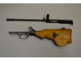 10227 Затворная рама в сборе и спусковая рама с прикладом для пулемета ДП-27