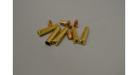 Комплект 7.62х38-мм (Наган) пуля с капсюлированной гильзой / Новый оболоченная пуля с латунной гильзой без капсюля [мт-469-1]