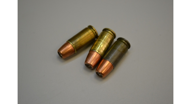 Учебные патроны 9х19-мм (Люгер/Парабеллум) / Стальные в лаке [пар-19]
