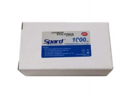 Аккумулятор Li-Po Spard 1000mAh, 3,7V, 10C, JST 1