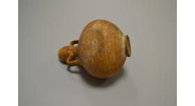 Древнеримский краснолаковый кувшин/ Оригинал, Римская империя, I-III вв., диаметр 10 см, высота 13 см [др-44]