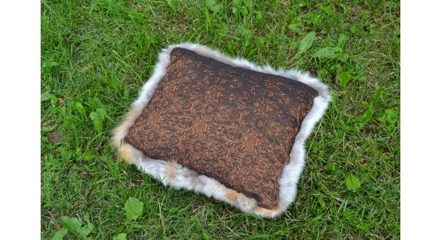 Подушки из лисьих шкур/Комплект 2 шт. из натурального меха рыжей лисы [пи-36]