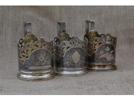 10929 Набор серебряных подстаканников