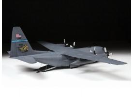 Сборная модель ZVEZDA Американский военно-транспортный  самолёт С-130Н 1