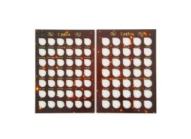 Альбом-планшет для монет «Современные рубли 1 и 2 руб. 1997- 2014гг.» два монетных двора 1