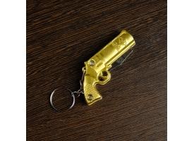 """Нож складной, брелок """"Револьвер"""" 11 см, микс, рукоять пластик"""