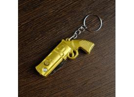 """Нож складной, брелок """"Револьвер"""" 11 см, микс, рукоять пластик 1"""