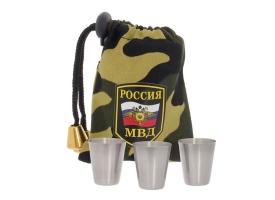 "Набор стопок в мешке ""МВД"", 30 мл, 3 шт."