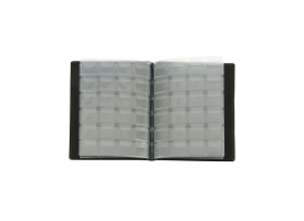 Альбом для монет Calligrata, 125х185 мм на 192 монеты, ячейка 26х29 мм, обложка искусственная кожа, микс 1