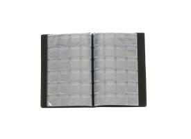 Альбом для монет Calligrata, 125х185 мм на 240 монет, ячейка 26х29 мм, обложка искусственная кожа, микс 1
