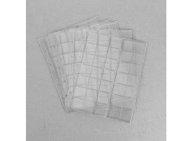 Комплект листов для монет, 5 штук, 200х250 мм, на листе 35 ячеек 30х32 мм, скользящий 1