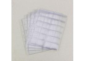 Комплект листов для монет, 5 штук, 200х250 мм, на листе 24 ячейки 39х38 мм, скользящий 1