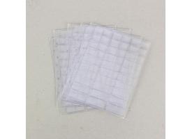 Комплект листов для монет, 5 штук, 200х250мм, на листе 60 ячеек 22х21 мм, скользящий 1