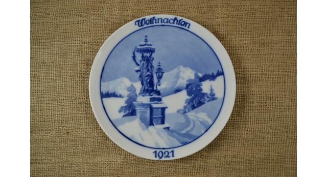 Рождественская тарелка Розенталь (Rosenthal)/Рождество 1921 г [фр-96]