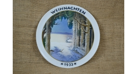 Рождественская тарелка Розенталь (Rosenthal)/Рождество 1933 г [фр-97]