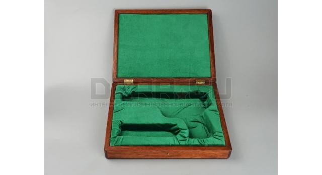 Подарочный футляр для пистолета АПС / Дерево с фиолетовым бархатом [п-94/1]