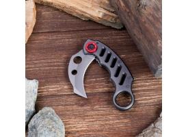 Нож-керамбит с кольцом на торце 1