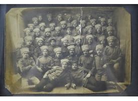 Групповое фото нижних чинов Русской императорской армии/Оригинал Первая Мировая война, 24х16 см в раме [фт-47]