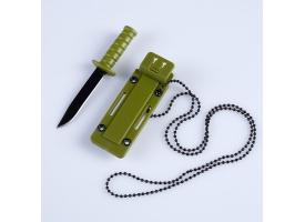 Нож-брелок в ножнах, лезвие 6 см 1