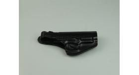 Кобура поясная для пистолета Ярыгина/Викинг / Поясная черная кожа новая [сн-208]