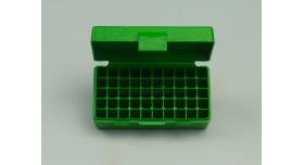Контейнер пластиковый для патронов MTM Case Gart P50 / Зеленый на 50 патрнов .25 Auto и 32 Long Colt новый [мт-325]
