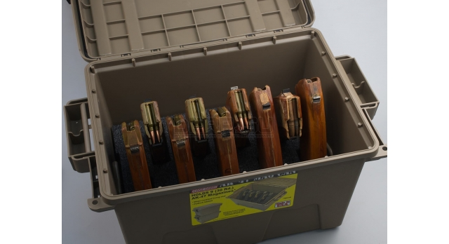 Кейс для магазинов АК пластиковый MTM AK-47 Mag Can / Под 9 магазинов 5.45х39 или 7.62х39 новый [мт-427]
