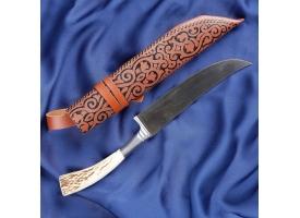 Пчак Шархон, рукоять из рога косули, гарда из олова 1