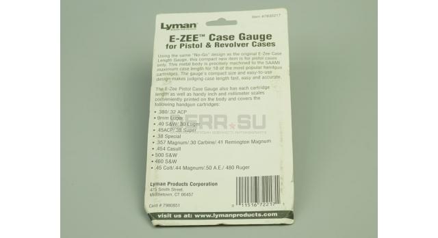 Линейка для измерения калибра патронов Lyman E-zee Case Gauge / От .32 ACP до 480 Ruger новый [мт-429]