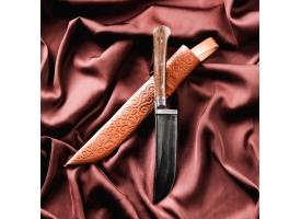 Нож Пчак Шархон, рукоять из текстолита (ёрма), гарда из олова
