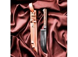 Нож Пчак Шархон, рукоять из текстолита (ёрма), гарда из олова 1
