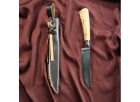 Нож Пчак Шархон, рукоять из берёзы (сухма), гарда из олова с гравировкой 1