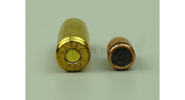 Комплект 7.62х25-мм (для ТТ,ППШ,ППС) пуля с капсюлированной гильзой / Новый оболоченная пуля с латунной гильзой [мт-438]