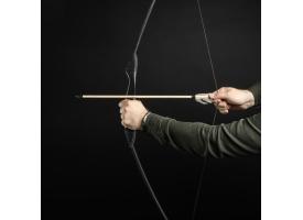 """Сувенирное деревянное оружие """"Лук спортивный"""", подростковый, чёрный, массив ясеня, 120 см"""
