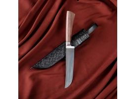 Нож Пчак Шархон - орех, сухма, пуговица, гарда олово У8 (13-14 см)