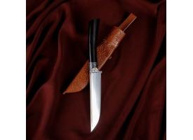 Нож Корд Куруш - Граб черный, сухма, гарда гравировка НС 420 (11-12 см)