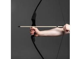 """Сувенирное оружие """"Лук фигурный"""", деревянное, взрослый, черный, массив ясеня, 120 см"""
