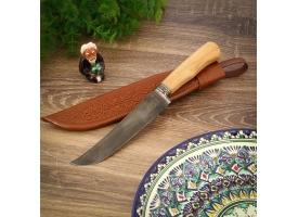 Пчак Шархон, рукоять из чинара, гарда с гравировкой
