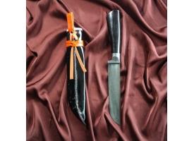 Нож Корд Куруш средний, чёрная рукоять из граба (сухма), гарда из олова 1