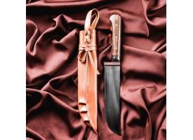 Нож Пчак Шархон средний, рукоять из текстолита (ёрма), гарда из олова с гравировкой 1