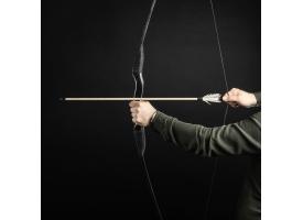 """Сувенирное оружие """"Лук традиционный"""", деревянное, взрослый, черный, массив ясеня, 170 см"""