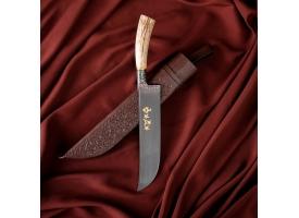 Пчак Шархон, рукоять из рога косули, гарда с гравировкой