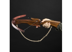"""Сувенирное оружие """"Арбалет"""", деревянное, взрослый, коричневый, массив ясеня, 70 см"""