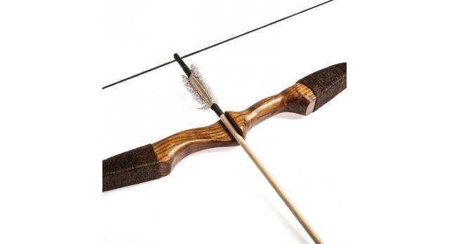 """Лук деревянный, взрослый """"Фигурный"""", коричневый, массив ясеня, 170 см 3"""