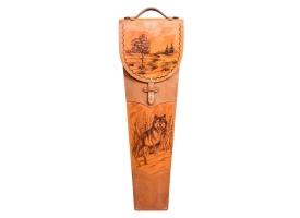 Шампуры подарочные 6 шт. в колчане из натуральной кожи 1