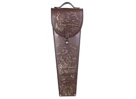 Шампуры подарочные 6 шт. в колчане из натуральной кожи коричневого цвета