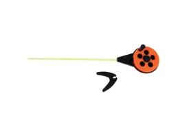 Удочка зимняя «Балалайка» УС-3, хлыст поликарбонат, цвет оранжевый