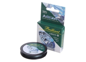 Леска плетёная Aqua green Brilliant, 25 м, 0,12 мм